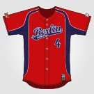 Berlin Roadrunners Jersey Pro Rot mit Tackle Twill -2-